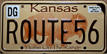 kansas licence plates special and vanity